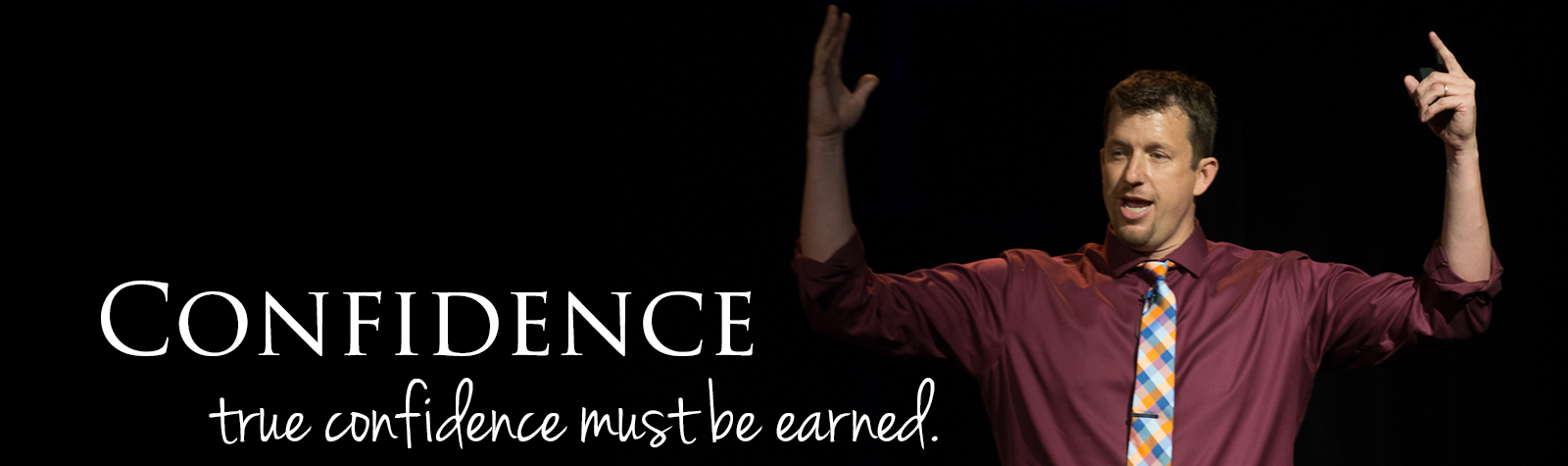 Website Banner - hands up pick with confidence statement